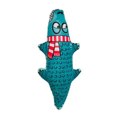 Игрушка FOX из оксфорда для собак, голубой крокодил, 26*12 см