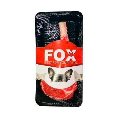 Игрушка FOX из оксфорда для собак, стейк на кости, 19*11 см
