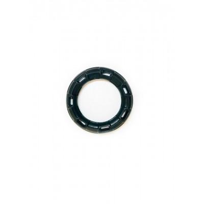 Іграшка для собак FOX кільце з 6 сторонами чорна, 15 см (з запахом ванілі)