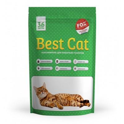 Силикагелевый наполнитель Best Cat для кошачьего туалета Green Apple, 3,6 л