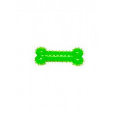Іграшка для собак FOX кісточка зелена, 15 см (з запахом ванілі)
