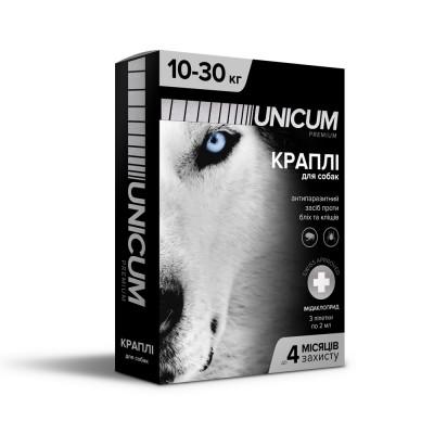 Капли UNICUM Premium от блох и клещей для собак весом 10-30 кг (имидаклоприд)