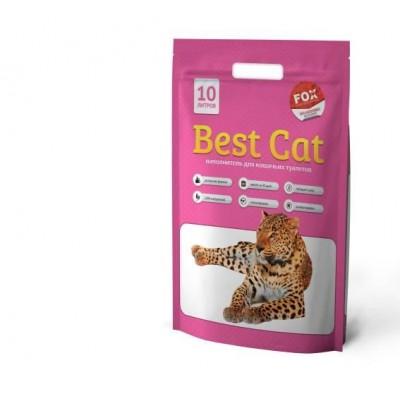 Силикагелевый наполнитель  Best Cat для кошачьего туалета Pink Flowers, 10л