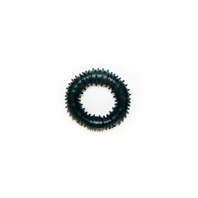 Іграшка для собак FOX кільце з шипами чорна, 12 см (з запахом ванілі)